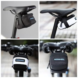 Roswheel Waterproof Cycling Bike NZ - ROSWHEEL Fixed Gear Fixie Road Bike Bicycle MTB Saddle Back Seat Seatpost Cycling Tail Pouch Package Bag M L Size