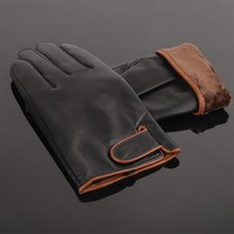 $enCountryForm.capitalKeyWord Australia - Wholesale-Business Sheepskin Leather Man Warm Winter Velvet Protective Leather Gloves