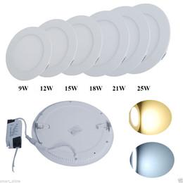 dimmable led panel light smd 9w 12w 15w 18w 21w 25w 2200lm 110240v led ceiling lights spotlight downlight lampdriver