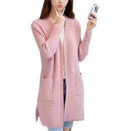 ... mayor de primavera y otoño nuevo cardigan de punto de las mujeres  coreanas suéter largo femenino suelta de color sólido Jumper Coat ropa  Vestidos LXJ292 340228095271
