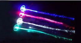 $enCountryForm.capitalKeyWord Canada - Emitting fiber optic wire braid hairpin flash fiber optic hair accessories flash dance bar Disco toys wholesale