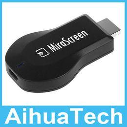Großhandel 100 teile / los Freies DHL MiraScreen OTA TV Stick EasyCast Wi-Fi Display Empfänger / Dongle besser als DLNA Airplay Miracast Airmirroring Chromecast