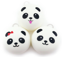 $enCountryForm.capitalKeyWord Australia - Wholesale 10cm Cute Cartoon Face squishy panda Buns Panda Bag Key Mobile Phone Straps Pendant Chain Cellphone Hot Sale