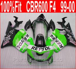 $enCountryForm.capitalKeyWord NZ - Perfect green REPSOL Fitment Body parts for Honda CBR 600 F4 custom fairings 1999 2000 fairing kit CBR600 F4 99 00 PCAT