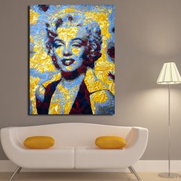 $enCountryForm.capitalKeyWord NZ - 1 Panel Marilyn Monroe Graffiti Wall Art Pictures HD Printed Modular Poster Paints Canvas Painting For Home Decoration No Framed