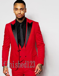 Discount Red White Men Prom | 2017 Prom White Red Suits For Men on ...