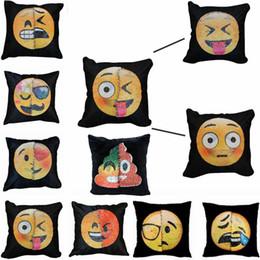 $enCountryForm.capitalKeyWord Canada - Emoji Sequins Pillows Case Poop Pillowcase Double Colors Faces Expression Mermaid Pillow Covers Home Sofa Car Decor 40*40cm DHT221