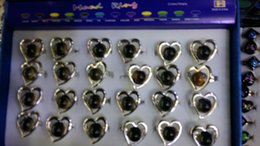 Discount heart mouth - Europe High quality fashion heart-shaped mood rings open mouth change color ring Adjustable mix style 100pcs lot