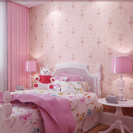 Lovely Non Woven Wallpapers For Children,Modern Girls Wallpapers,Pink  Floral Kids Wall Paper Roll,Wallpaper Kids,papel De Parede