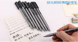 painting nylon plastic 2019 - NEW STA 8050 Painting designs Pens waterproof colorfast black hook line maker pen soft tip brush pen Drawing sketch Need