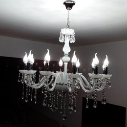 $enCountryForm.capitalKeyWord Canada - Luxury European crystal candle Living Room Chandelier bedroom White Glass Light Dining room Ceiling Pendant Lamps Restaurent Chain Lamps