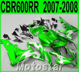 $enCountryForm.capitalKeyWord Canada - Injection molding motobike set for HONDA CBR600RR fairings 07 08 green silver black ABS fairing kit CBR 600RR F5 2007 2008 KQ89