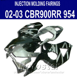 injection honda cbr954rr fairing Canada - Injection molding 7 gifts + Fit for Honda cbr900rr fairings 954 02 03 CBR954RR black silver fairing kit CBR900 RR 2002 2003 YR32