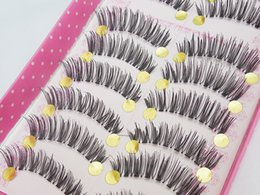 $enCountryForm.capitalKeyWord Canada - New Package Hot Sales Style Soft Forked Tail Japanese Crisscross Long Thick False Eyelashes 100% Hand Made 10 Pairs