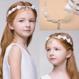 Wedding accessories hair pieces online shopping - Newest Junior Bridesmaid Bride Accessories Headband Hairwear Crystal Children Hair Wedding Accessories Rhinestone Girls Head Pieces