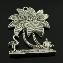 $enCountryForm.capitalKeyWord Australia - 20pcs lot 51*42mm vintage antique silver plated zinc alloy beach charms