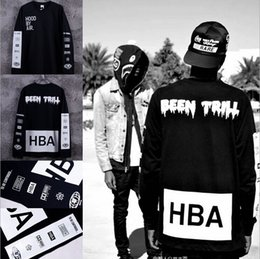 $enCountryForm.capitalKeyWord NZ - Wholesale-New 2015 Men's Hood By Air Long Sleeve Tee Shirts Man HBA Hip Hop t-shirts Been Trill Printed tshirts Men Camisetas Clothing