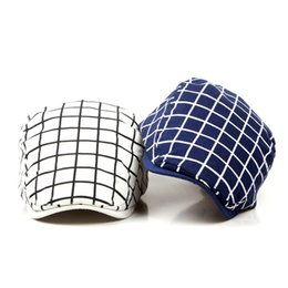 Flat Hats For Women Australia - New Fashion Sports Berets Caps For Men Women Classic Unisex Cotton Plaid Caps Berets Hats Boina Casquette Outdoors Flat Cap
