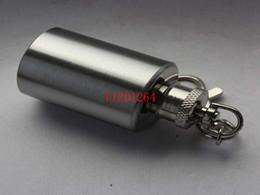 $enCountryForm.capitalKeyWord UK - Free Shipping cylinder-shaped Lead-free Round style 1oz stainless steel mini hip flask Empty bottle With keychain 100pcs lot