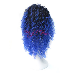 Blue White Curly Wigs Canada - 220gram synthetic wig KINKY CURLY Micro braid wig african american braided wigs brazilian hair wigs 18inch synthetic wigs for black women