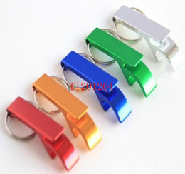 $enCountryForm.capitalKeyWord NZ - 500pcs lot Free Shipping New Metal Keychain Beer Soda Cans Bottle Opener Key chain Keyring Can Custom LOGO TEXT