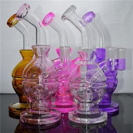 $enCountryForm.capitalKeyWord NZ - Fab Egg Glass Bong Oil Rigs Hoohah Heady Colored 9'' Faberge Egg Best Hookah Water Pipes with Showerhead Perc Free Bowl Bucket Nail Recycler