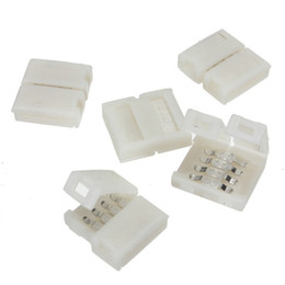 Solderless Connectors NZ - High Quality Mini 10mm 4Pin Connector Adapter for RGB 3528 5050 SMD Led Strip lights Solderless