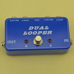 Switch looper online shopping - 2016 NEW A B Box soft switch true bypass looper With Trails spill over Blue