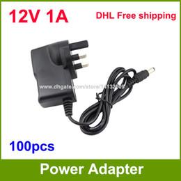 $enCountryForm.capitalKeyWord Australia - 100pcs AC DC Adapter 12V 1A UK Power Supply Adaptor For CCTV Cameras   Led Strip Light DHL Free shipping
