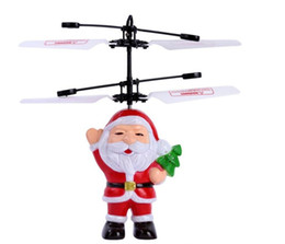 best brand toys 2019 - Best seller Santa Claus Flying RC Ball Infrared Induction Mini Aircraft Flashing Light Remote Toys For Kids discount bes