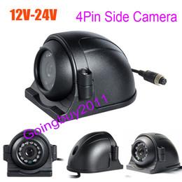 Camera side Car online shopping - 4Pin LED Side Car Rear View Parking Backup Camera For Truck Bus Monitor V V Free Shippnig