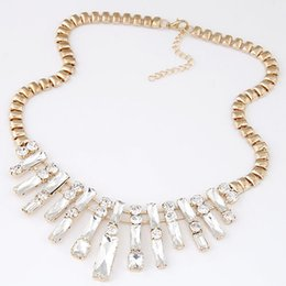 necklace big chain gold Canada - Collier Femme Fashion Exaggerated Gold Chain Bib Necklaces For Women 2015 Cubic Necklaces & Pendants Maxi Colar Big Necklace