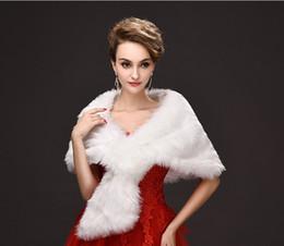 White Faux Fur Shorts Australia - Elegant White Winter Bridal Wraps Faux Fur Shrug Lapel Wedding Shawl Bride Prom Party Bridal Short Wraps Jacket Women Bolero Jackets