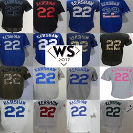 Camisas De Hombre Al Por Mayor Baratos-Barato al por mayor 2017 2017 WS Patch Jersey Hombres Mujeres Kid Toddler Los Angeles Camisas 22 Clayton Kershaw Home Visitante Tercer Color Béisbol Jerseys