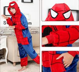 Wholesale Spider Man pooh jumpsuits Halloween Costume costumes for men women Pooh Kigurumi Pajamas Animal Suits Cosplay Outfit Adult Animal Sleepwear