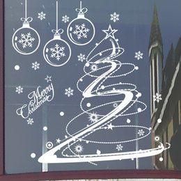 3d ball window sticker 2019 - M001 Merry Christmas Removable Snow Ball Wall Sticker Decal Home Window Decor Wall Stickers For Kids Room Nursery Market