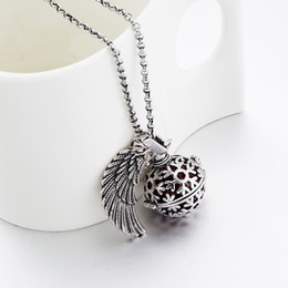 Pregnancy Chime Pendant Australia - New Pregnancy Ball Bola Nickel Black Angel ball in Pendants Baby Chime Necklace Jewelry With Chain 24pcs
