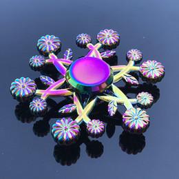 $enCountryForm.capitalKeyWord Canada - New Arrival Fidget Spinner Toys Rainbow Tri-Fidget Metal Hand Colorful EDC Gyro Toys Hand Spinner Aluminum Spinners Finger Top Spinning