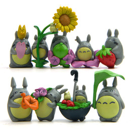 japanese mini figures Canada - New 9pcs lot 3cm Mini Totoro Figure Umbrella Toy Japanese Anime My Neighbor Totoro Figure Juguete Party Decoration