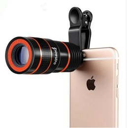$enCountryForm.capitalKeyWord NZ - 2018 8X Magnification Mobile Phone Zoom Telescope Magnifier Optical Camera Lens with Clip For iPhone Samsung LG HUAWEI