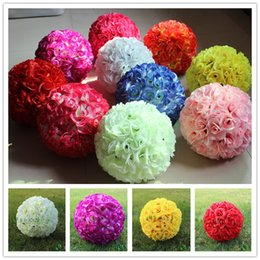$enCountryForm.capitalKeyWord NZ - Wedding Centerpieces Silk Rose kissing Ball for Bride Hand Holding Flowers Cheap Wedding Favors Artificial Bridal Flower Hot Sale love007