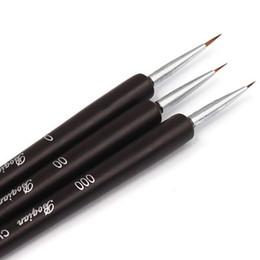 China Nail DIY Tools Tiny Liner Drawing Painting Pen Brush Acrylic Nail Art Detailed Design Tool set Nail painting pen Nail Brushes 3pcs set suppliers