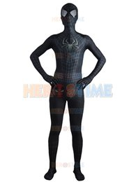 $enCountryForm.capitalKeyWord Canada - 2015 New Black The Amazing Spider-man Costume Fullbody Spandex Spiderman Superhero Costume For Halloween Cosplay zentai suit free shipping