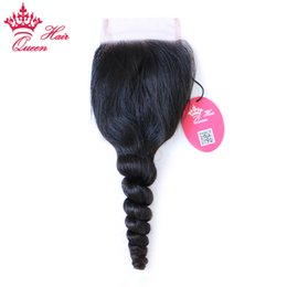 "Discount queen hair virgin brazilian loose - Queen Hair 100% Brazilian Virgin Hair Lace Closure 8""-20"" in our stock, 8A Grade 3.5""*4"" swiss lace"