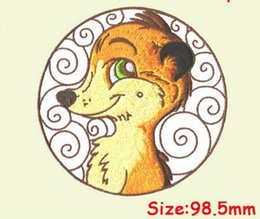 $enCountryForm.capitalKeyWord NZ - New design animal series lovely fox patch computer embroidery badge iron on cloth or bag free shipping can be custom