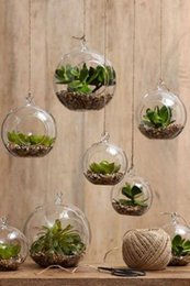 Wholesale 6pcs Hanging Air Plant Moss Terrariums Succulent Garden Decor Glass Ball Tealight Holders Wedding or Home Decor candlestick