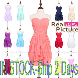 Discount lilac purple maid honor dresses - Chic Coral Mint Bridesmaid Dresses Short Champagne purple Navy Burgundy Lilac Maid of Honor Wedding Guest A-Line Sweethe