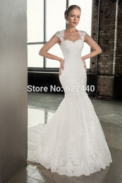 Beads Styles Pictures Canada - 2020 Fashion Style Applique Mermaid Wedding Dress With Detachable Jacket Sweep Train Wedding Gown Bride Dress