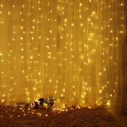 Wholesale  ICOCO 1pcs 3X3m 300LEDs 110V 220V Outdoor Home Curtain String  Fairy Light For Wedding Party Holiday Beedroom Store Decoration Amazing Ideas