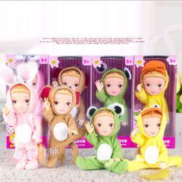 $enCountryForm.capitalKeyWord Australia - 17cm New Fashion Creative Gesture Novelty Dolls for Girls Toys Boys Kids Birthday Gift Sleeping Girl's Kid's Dolls Handmade
